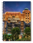 The Hollywood Tower Hotel Disneyland Spiral Notebook