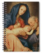 The Holy Family With A Basket  Spiral Notebook