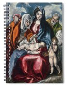 The Holy Family With Saint Anne And The Infant John The Baptist Spiral Notebook