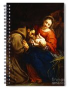 The Holy Family With Saint Francis Spiral Notebook