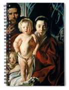 The Holy Family With St. John The Baptist Spiral Notebook