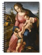 The Holy Family With The Infant Saint John The Baptist Spiral Notebook