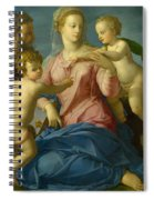 The Holy Family With The Infant Saint John The Baptist, Madonna Stroganoff  Spiral Notebook