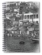 The Holy Ganges - Paint Bw Spiral Notebook