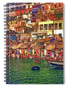 The Holy Ganges - Paint Spiral Notebook