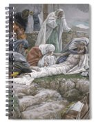 The Holy Virgin Receives The Body Of Jesus Spiral Notebook