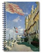 The Hotel Des Roches Noires At Trouville Spiral Notebook