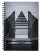 The Hotel Experimental Futuristic Architecture Photo Art In Modern Black And White Spiral Notebook