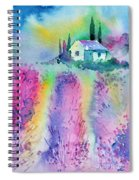 The House By The Lavender Field Spiral Notebook
