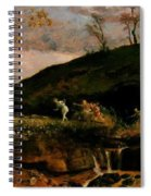 The Hunt Of Diana 1896 Spiral Notebook