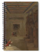 The Hypostyle Hall Of The Great Temple At Abu Simbel Egypt Spiral Notebook