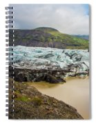 The Ice Wall Iceland Spiral Notebook