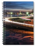 The Icy Charles River At Night Boston Ma Cambridge Spiral Notebook