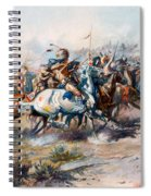The Indian Encirclement Of General Custer At The Battle Of The Little Big Horn Spiral Notebook