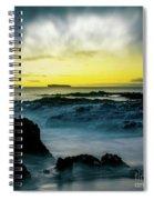 The Infinite Spirit  Tranquil Island Of Twilight Maui Hawaii  Spiral Notebook