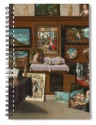 The Interior Of A Picture Gallery With Connoisseurs Admiring Paintings Spiral Notebook