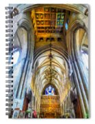 The Interior Of The Southwark Cathedral  Spiral Notebook