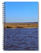 The Intracoastal Waterway In The Georgia Low Country In Winter Spiral Notebook