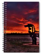The Iron Horse Red Sky Sunset Spiral Notebook
