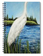 The Island's Egret Spiral Notebook
