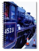 The Jacobite At Mallaig Station Platform 2 Spiral Notebook