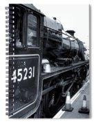 The Jacobite At Mallaig Station Platform 3 Spiral Notebook
