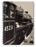 The Jacobite At Mallaig Station Platform 4 Spiral Notebook