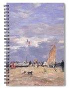 The Jetty At Deauville Spiral Notebook