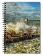The Jetty Storm Spiral Notebook