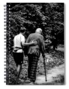 The Journey Bw Spiral Notebook