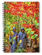 The Joys Of Autumn Camping Spiral Notebook