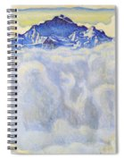 The Jung Frau Above A Sea Of Mist Spiral Notebook