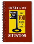 The Key To The Situation - Ww1 Spiral Notebook
