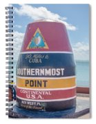 The Key West Florida Buoy Sign Marking The Southernmost Point On Spiral Notebook