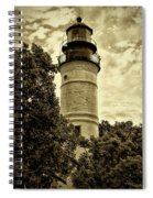 The Key West Lighthouse In Sepia Spiral Notebook