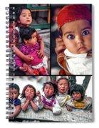 The Kids Of India Collage Spiral Notebook