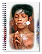 The Kids Of India Triptych Spiral Notebook