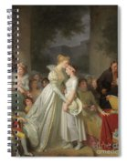 The Kiss Of Protection By The Local Chatelaine  Spiral Notebook