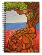 The Labor Day Hamptons Tree Spiral Notebook