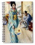 The Lady And Sada San Spiral Notebook