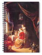 The Lady At Her Dressing Table 1667 Spiral Notebook