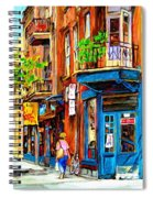 The Lady In Pink Spiral Notebook