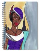 The Lady Of The City Spiral Notebook