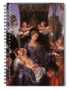 The Lady Of The Festival Du Rosaire Fragment Spiral Notebook