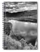 The Lake In Black And White Spiral Notebook