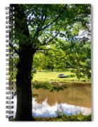 The Lake In The Park Spiral Notebook