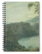The Lake Of Nemi And The Town Of Genzano Spiral Notebook