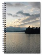 The Lake Of Two Rivers At Dawn Spiral Notebook