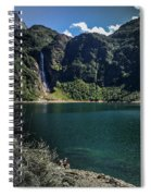 The Lake On A Mountain Spiral Notebook