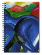 The Large Blue Horses 1911 Spiral Notebook